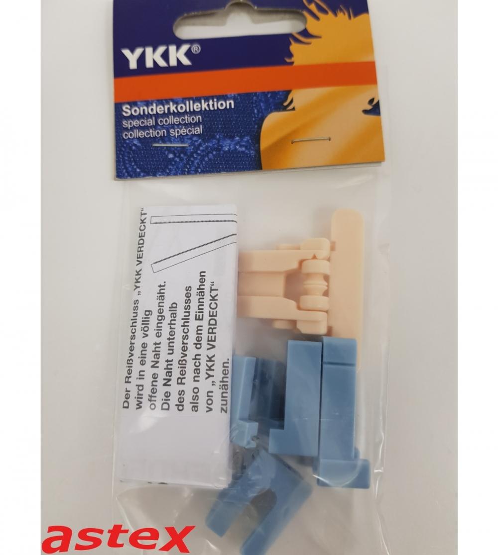 Verdeckte-RVS-Fuß aus Kunststoff YKK