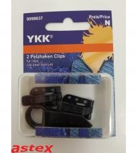 Pelzhaken mit Clips YKK